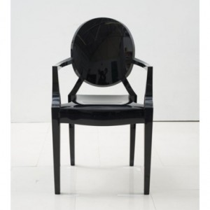 Black Louis Ghost Chair