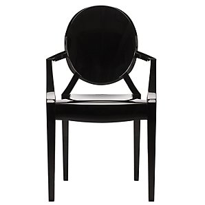 Kartell Louis Ghost Chair in solid black